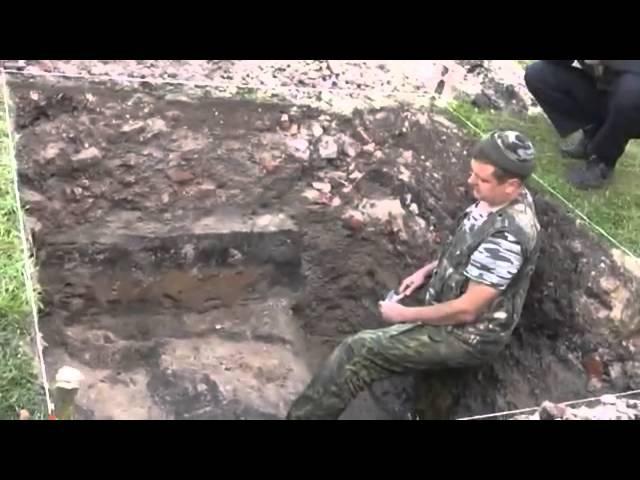 Раскопки древнего храма в г Карачеве.