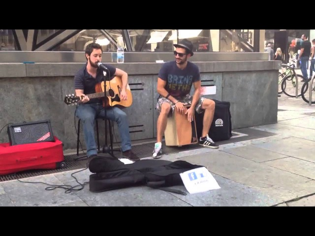 The Black Keys Lonely Boy acoustic busking cover by L A Woods