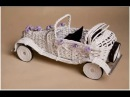Ретро-автомобиль Мастер-класс Плетение из газет
