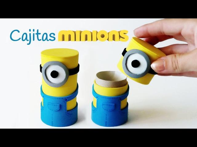 Manualidades Cajitas MINIONS con tubos de cartón - Innova Manualidades