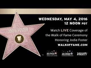 Jodie Foster - Walk of Fame Ceremony