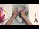 Живопись шерстью. Видео-урок Нежные розы Прованса