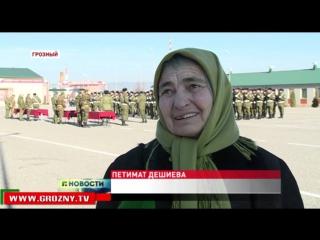 Призывники принесли присягу в 141-м специальном моторизованном полку имени Ахмата-Хаджи Кадырова