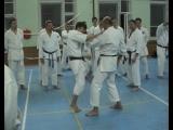 Shihan Diankov showing bunkai at Karate-Jutsu-Seminar in Moscow, Russia