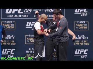 Открытая тренировка Хосе Альдо перед UFC 194: Альдо против Макгрегора