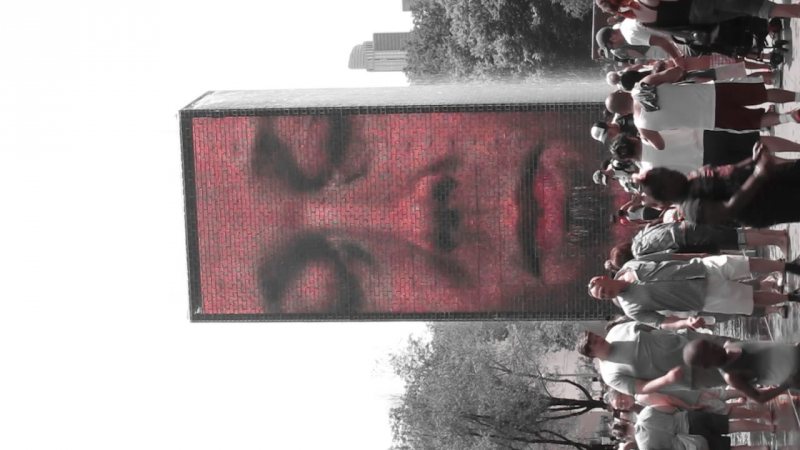 Плюющийся фонтан Чикаго Миллениум парк