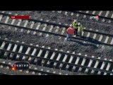 В США при столкновении поезда с экскаватором погибли двое