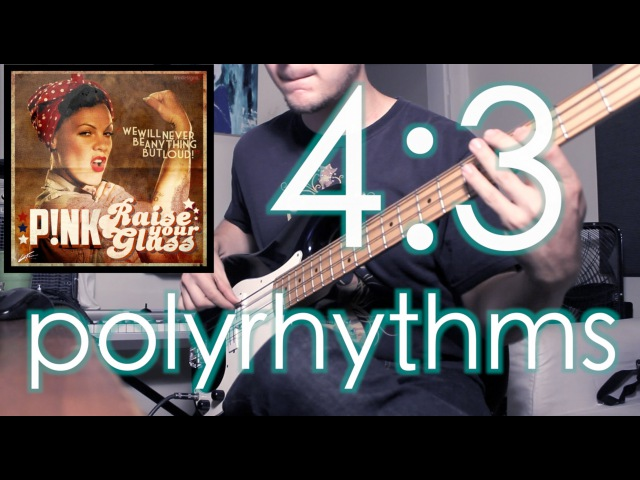 4:3 Polyrhythms (in top 40 pop music?!) [ AN's Bass Lessons 4 ]