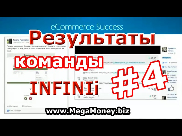 Результаты электронной коммерции русскоязычной команды Инфиниай