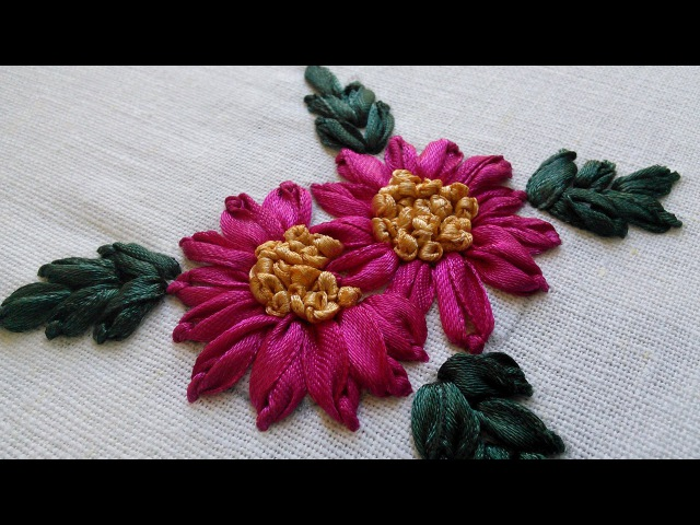 Hand Embroidery Tutorials | Ribbon Stitches | HandiWorks 32