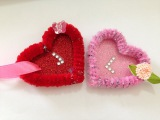 Quick Valentine's craft Pipe Cleaner Heart card