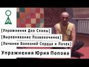 [Выравнивание Позвоночника, Лечение Болезней Сердца и Почек] Упражнения Юрия Попова