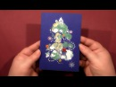 Speed Painting Christmas Tree Greeting Card Technique Monotype Gouache IOTN