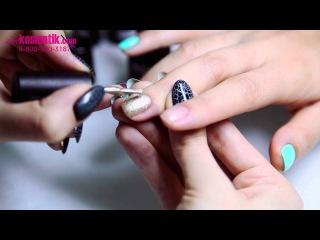 Как сделать эффект кракелюра на ногтях? Гель-лак TNL Crack растрескивающийся лак на ...