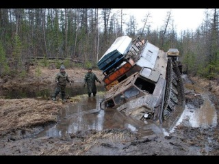 ПО БЕЗДОРОЖЬЮ СЕВЕРА РОCСИИ НА ВЕЗДЕХОДЕ МТЛБ ПОДБОРКА RUSSIAN MONSTER ON THE ROADS NORTH OF RUSSIA