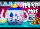 How to Make a TEAPOT CAKE fit for a MAD HATTER'S TEA PARTY Chocolate Cake with SUGAR FLOWERS