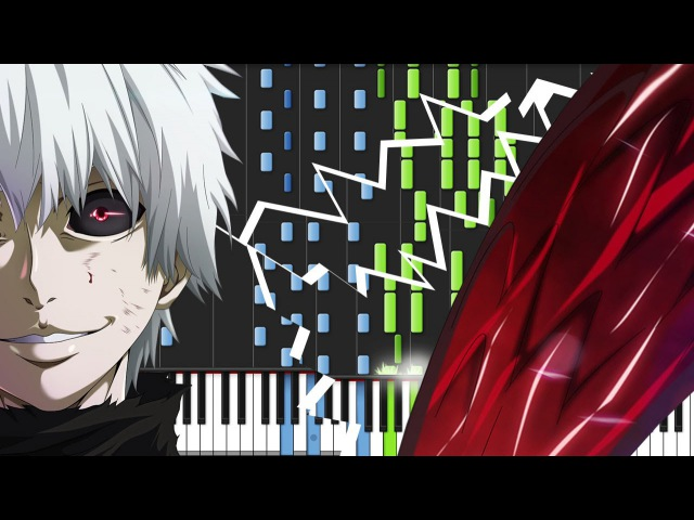 Unravel - Tokyo Ghoul (Opening) [Piano Tutorial] (Synthesia) Animenz