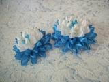 Пушистый цветок из узкой ленты/DIY/Kanzashi