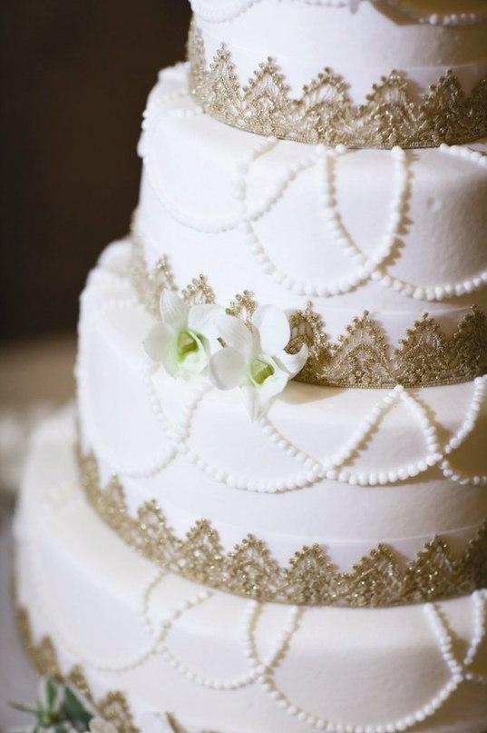 6YmZbO3jOys - «Металлические» свадебные торты 2016 (75 фото)