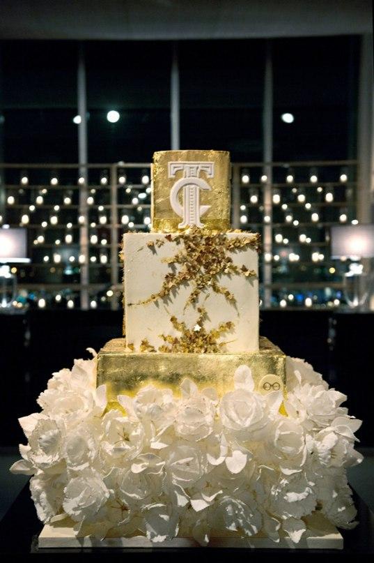 nOsho8BgtC8 - «Металлические» свадебные торты 2016 (75 фото)