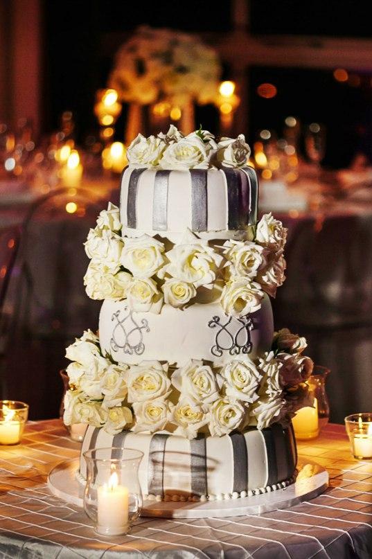 4myVYm95wFM - «Металлические» свадебные торты 2016 (75 фото)