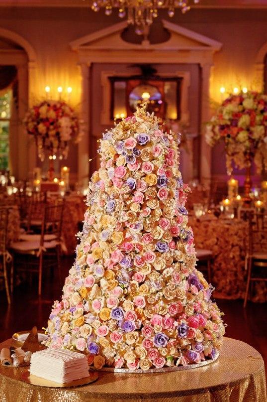 lj7mh55vM9k - «Металлические» свадебные торты 2016 (75 фото)