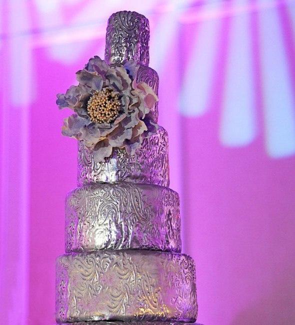 0Jjk iZtz4g - «Металлические» свадебные торты 2016 (75 фото)