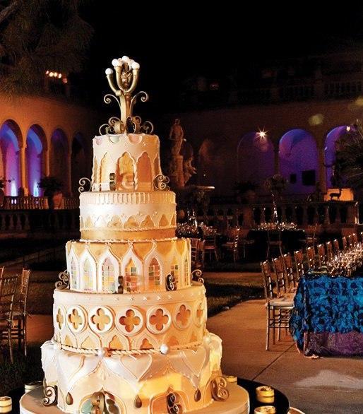 vFwAakaNa4g - «Металлические» свадебные торты 2016 (75 фото)