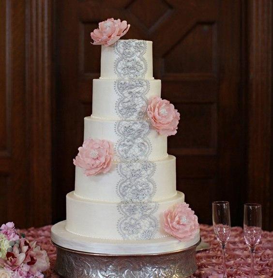 tgAqKm3auuA - «Металлические» свадебные торты 2016 (75 фото)