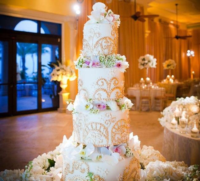 ToNyxJNz1Hk - «Металлические» свадебные торты 2016 (75 фото)