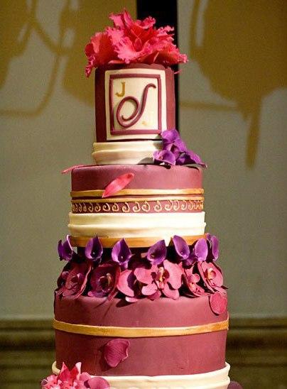 4ETA5sfrayM - «Металлические» свадебные торты 2016 (75 фото)