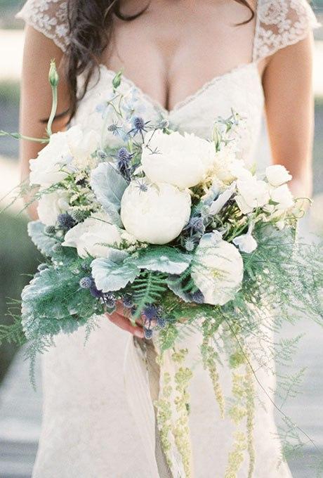 1qiSIH7XPgo - Голубые свадебные букеты (19 фото)