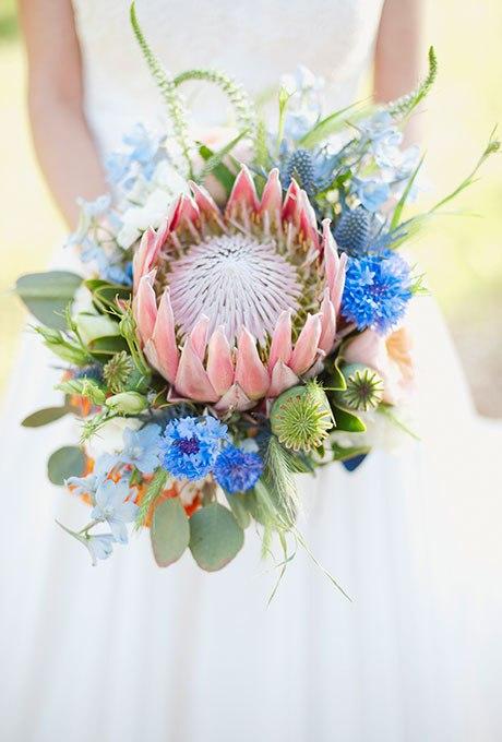 LHGQ 559Xi8 - Голубые свадебные букеты (19 фото)
