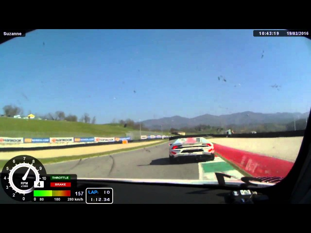 Start 12h Mugello Part2 Audi R8 LMS Ultra, Onboard Martin Konrad, Team Spirit