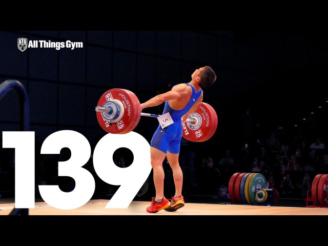 Wu Jingbiao 139kg Snatch World Record 2015 World Weightlifting Championships