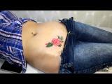Интим тату, роза/Intimate tattoo