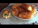 Пирожки жаренные с зеленым луком и яйцом