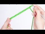 Вязание крючком. Урок №1. Воздушная петля и цепочка