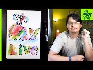 Приветствие канала РыбаКит Live | Большой Папа Рисует