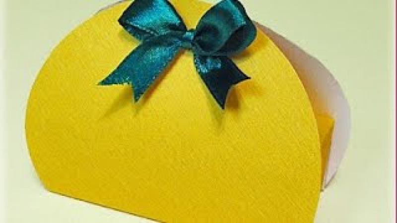 Подарочная упаковка коробка своими руками Маленькая коробочка за 5 минут Поделки с детьми!