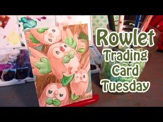 Trading Card Tuesday: Rowlet Sun and Moon Grass Starter ::Spoiler alert::