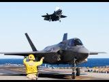 Стелс истребители F 35C на авианосце . Stealth fighter F 35C on an aircraft carrier