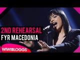 Eurovision 2016 Second rehearsal Kaliopi Dona (FYR Macedonia)