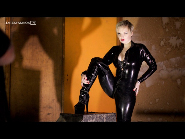 Latex Catsuit PVC Thigh Boots