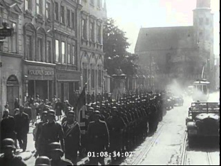 SS Guard of Honour in Cracow for Marshal Jozef Pilsudski.