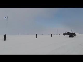 Военный парад в Арктике. о.Котельный 9 мая.(Просмотрите до конца)
