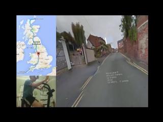 Очки виртуальной реальности + велотренажер + карты Google