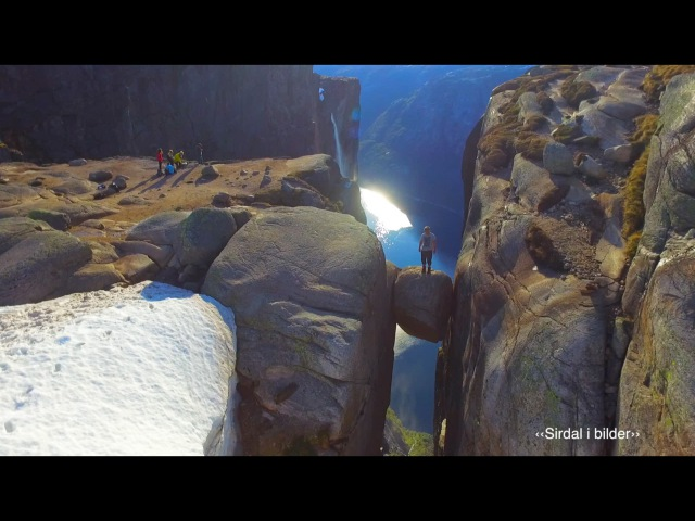 Kjerag from the air - viral drone video from Norway (200 million views on Facebook)