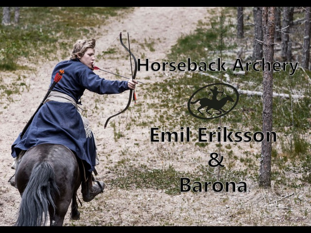Horseback archery with Emil and Barona