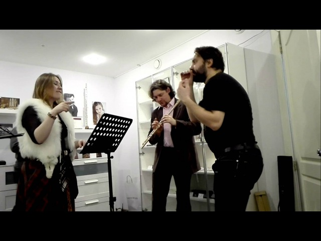 Соловей в шоуруме Москоского флейтового центра Елена Исаева и Антон Котиков